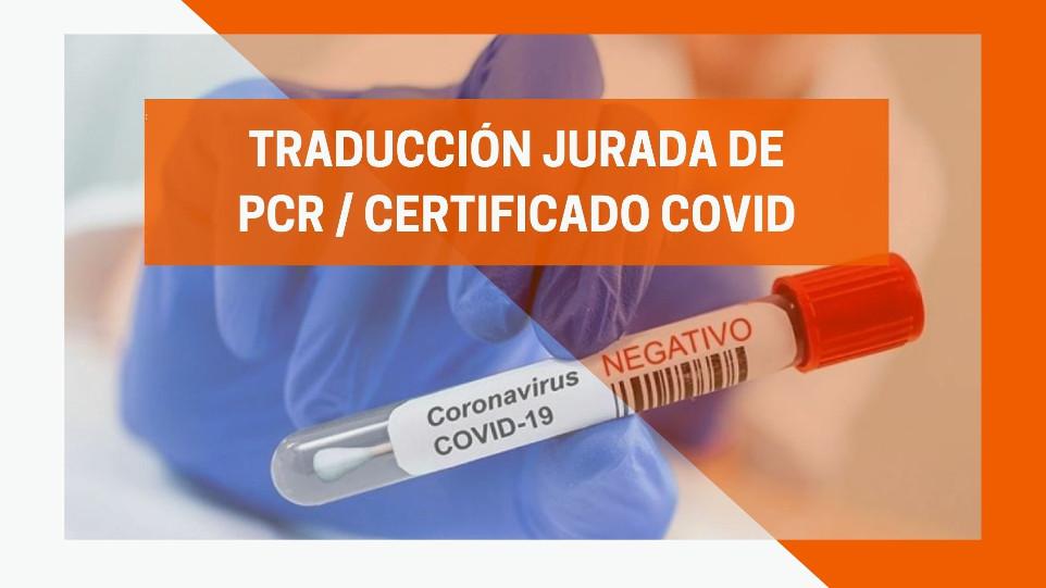 PCR/Certificado COVID negativo